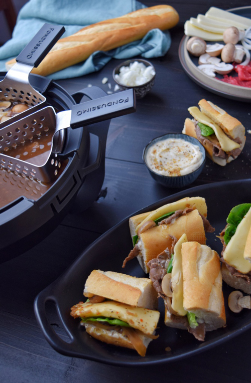 Recette Fondue Philly Cheesesteak